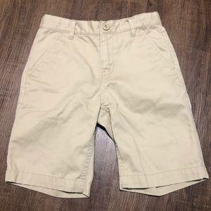 Old Navy Boys Uniform Khaki adjustable shorts 7 R